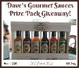 Dave's Gourmet Sauces Prize Pack Giveaway