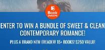 ENTER TO WIN A BUNDLE OF SWEET & CLEAN CONTEMPORARY ROMANCE! PLUS A BRAND NEW EREADER! 15+ BOOKS! $250 VALUE!