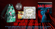 Enter to win a signed paperback of Bad Seed, a palm leaf shoulder bag, one tree of life pendant necklace, a magical jungle adult coloring book, and a pack of colored pencils.
