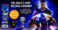 Enter to win signed paperbacks of No Graves For Heroes and Rogue Scholars, a Star Wars Mandalorian Funko pop, a Jupiter glow lamp, and a Cowboy Bebop coffee mug!