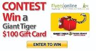 """Giant Tiger $100 Gift Card"""""""