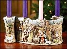 Nativity Advent Candleholder ($40)