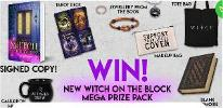 New Witch on the Block Mega Prize Pack:A 'Witch' tote bag,A 'Support your local coven' makeup bag, A 'Witches brew' cauldron mug, A 'Witches' Wisdom' tarot deck...+ so much more..