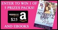 Nobody's Baby But Mine $25 Amazon Card #BookGiveaway From Gloria Silk