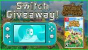 ONE LUCKY WINNER WILL RECEIVE...  -Switch Console  & Copy of Animal Crossing