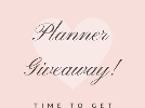 Planner Prize Package Giveaway