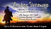 Prize #1: A $50 Amazon GC Prize #2: A Cowboy-themed Gift Basket Prize #3: A Bundle of eBooks From the Participating Authors!