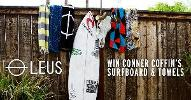 Signed Channel Islands Conner Coffin Surfboard + LEUS Towels