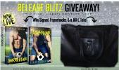 Signed paperbacks of Surrender and Dominate + a Jill-E tote (1 winner, open internationally)