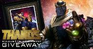Thanos on Throne Framed Premium Art Print