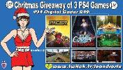 "This is a giveaway for: Game ""Pacer"" (PS4); Game ""The Coma 2: Vicous Sisters"" (PS4) & Game ""Costume Kingdom"" (PS4)!"