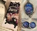 Throne of Glass bookmark and A Court of Mist and Fury necklace & earrings from Mireille Chartier