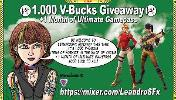 Win 1.000 V-Bucks Itens Fortnite + 1 Month Ultimate GP!