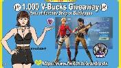 Win 1.000 V-Bucks Itens Fortnite or a Battlepass!!
