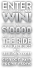 Win $10,000 voucher toward the ride of your choice