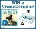 Win a $20 Walmart Gift Card or Paypal Cash – WINNER'S CHOICE!