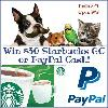 Win a $30 Starbucks Gift Card or Paypal Cash Prize!