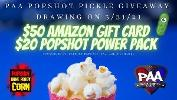 Win a $50 Amazon Gift Card and $20 Popshot Power Pack!!