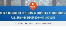 WIN A BUNDLE OF MYSTERY & THRILLER AUDIOBOOKS! PLUS A BRAND NEW EREADER! 20+ BOOKS! $300 VALUE!
