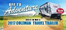 WIN: a Coleman Travel Trailer