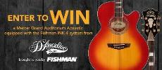 WIN: a D'Angelico Mercer Grand Auditorium equipped with our Fishman INK-4 preamp and tuner system