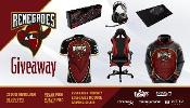 Win a DXRacer Gaming Chair, Hyper-X Headset, Keyboard Mouse and Mousepad and Renegades Hoodie and Jersey