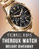 Win a Micheal Kors Luxury Watch Giveaway! (Value at $175.00)!