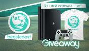 Win a PS4, PS4 Silver Controller and T-Shirt