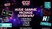 Win a  ToopGFX Superior Bundle:x1 Twitter Banner x1 Youtube Banner x1 Text Logo x10 Panels x5 Graphics