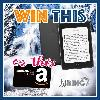 win a waterproof Kindle Paperwhite or one of two Amazon gift cards!
