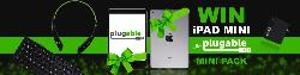 win an iPad mini 4, Bluetooth keyboard, smart charger, and headphones!