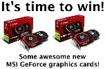 Win an MSI GeForce GTX 1050 Ti Gaming X 4G / 2G - 2 Winners