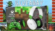 Win an XBOX One S Minecraft Limited Edition Console (1 TB), XBOX One Minecraft Creeper Controller, XBOX One Minecraft | Redstone Pack, XBOX Game Pass ULTIMATE --> 12 month's, Turtle Beach RECON 70 for XBOX!!