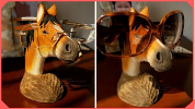 WIN CARVED HORSE GLASSES STAND