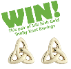 WIN IRISH TRINITY KNOT 14k GOLD EARRINGS