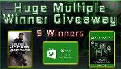Win One Month Xbox Game Pass Ultimate-7 winners; $65 Microsoft Gift Card-1 winner; One Copy of Call of Duty: Modern Warfare-1 winner.