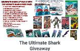 Win: The Jaws 45th Anniversary DVD - The Greatest Shark Movie, Sharknado 1-3 - The Nuttiest Shark Movies,Maneater** - The Greatest Shark Video Game,All 3 Cover Variants of Shark of War #1 - The Greatest Shark Comic Book...+ lots more..