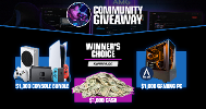 Winner's Choice  $1,000 Cash or $1,000 Gaming PC or  $1,000 Console Bundle !!