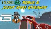 Winner will be receiving 10,000 Robux via Group Funds. Plus a Scout Xmas + MMA Glove In Counter Blox!