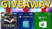Winner will pick a gift card of their choice(Steam,Xbox,Psn) worth $20 or 2 $10 Gift cards in case you have multiple systems.