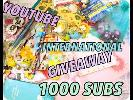 YOUTUBE GIVEAWAY 1000 SUBSCRIBERS