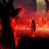 zombies in fire