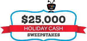 Tivo's $25,000 Holiday Cash Sweepstakes