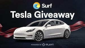 To celebrate the launch of Surf -they are giving away a  BRAND NEW TESLA MODEL 3!