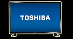 Toshiba on a tv