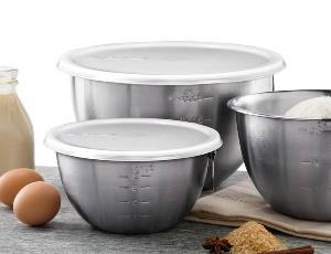 Tovolo Stainless Steel Three-Piece Mixing Bowl Set