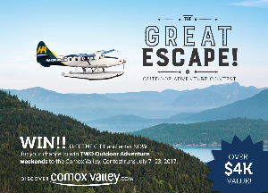Trip for 2 to the Comox Valley, BC