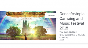 Two Dancefestopia Tickets Giveaway (valued at $180 each)