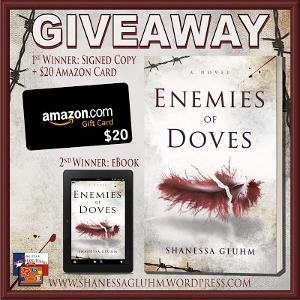 TWO WINNERS: 1st: Signed Copy + $20 Amazon Card; 2nd: eBook!