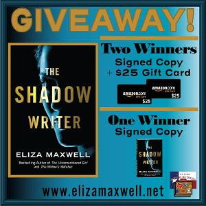 TWO WINNERS: Signed Copy + $25 Amazon Gift Card ONE WINNER: Signed Copy